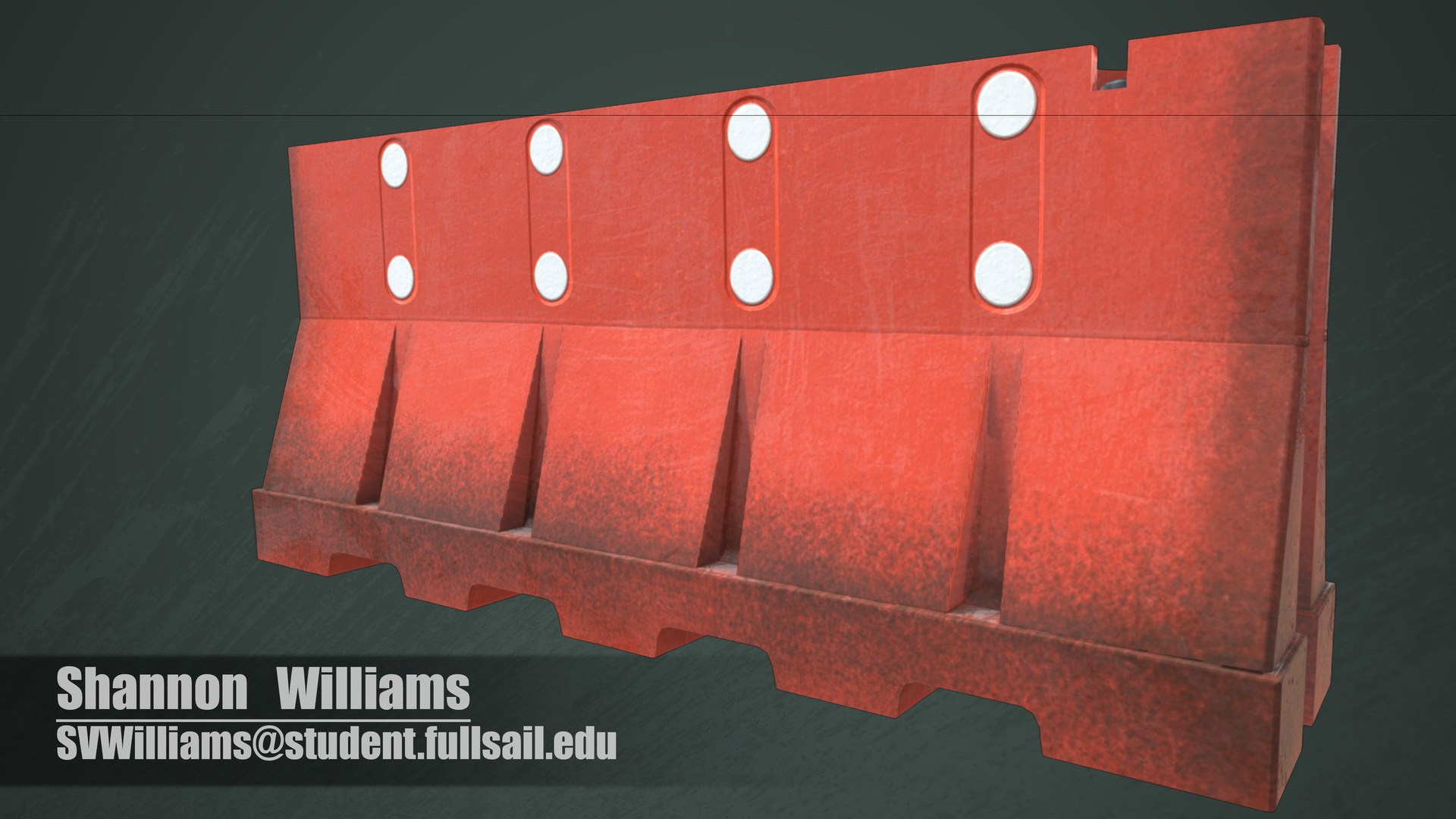 The model is fully textured now. I took elements of each reference to develop this rendition of the object.
