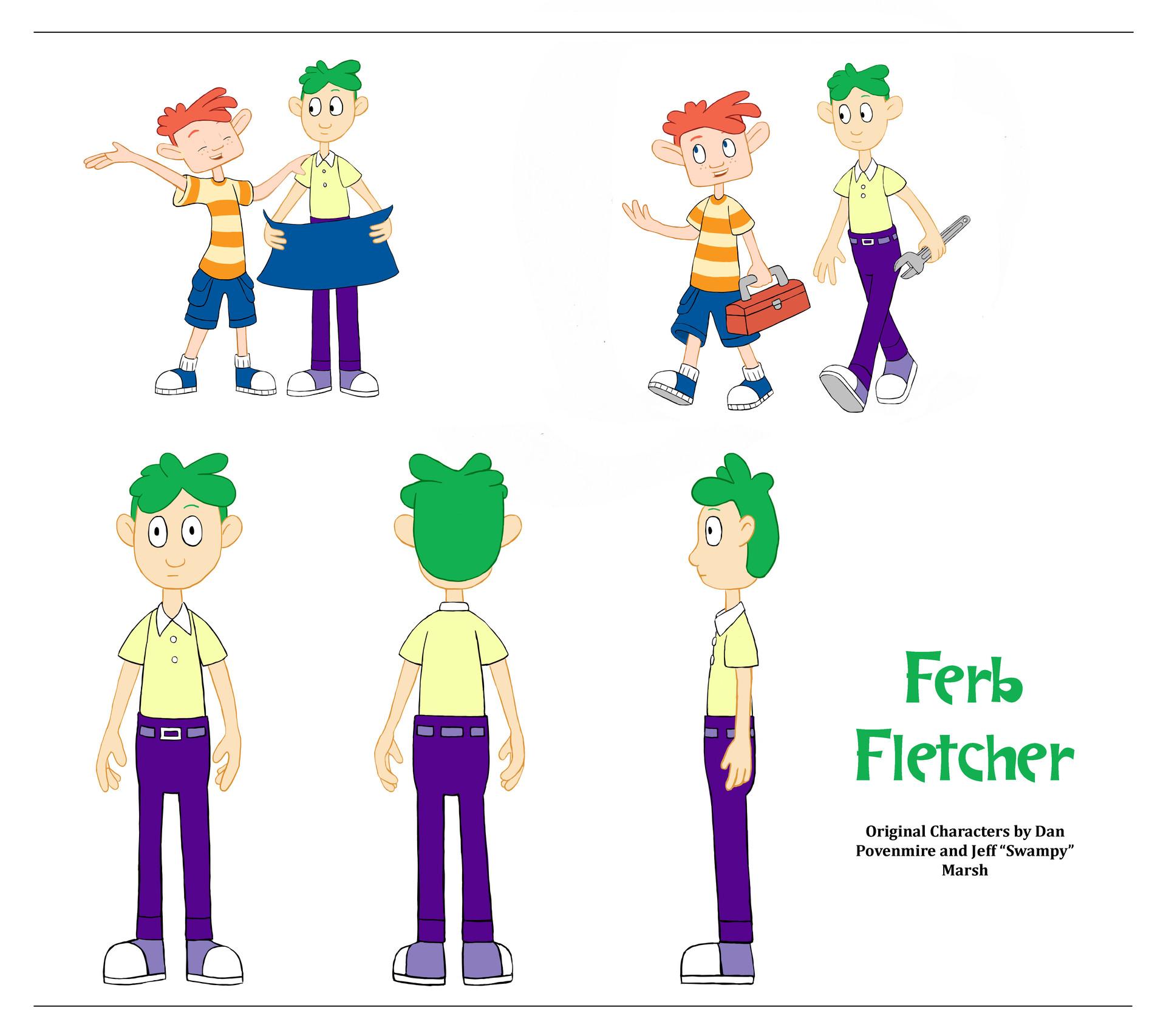 Ferb Images artstation - ferb fletcher off model, misty brown