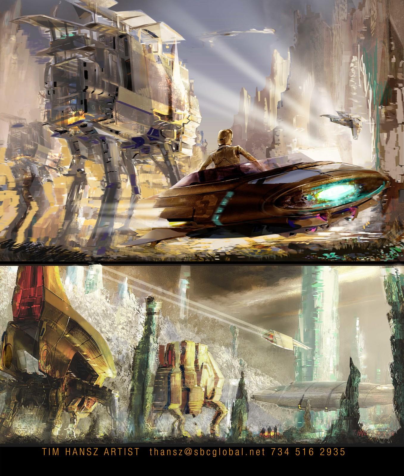Sci -Fi painting.