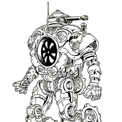Rover Steambot; Inktober 11 2018