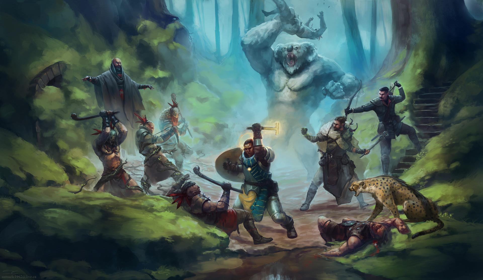 ArtStation - Dnd Battle, Samuel Couture