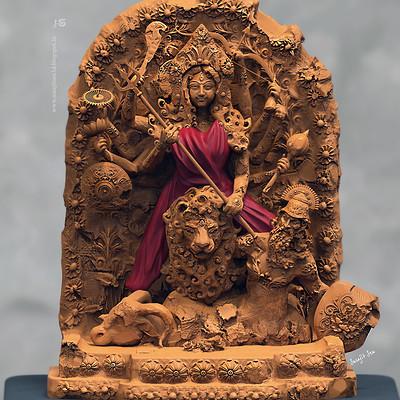Surajit sen rudrani digital sculpt by surajitsen 14102018