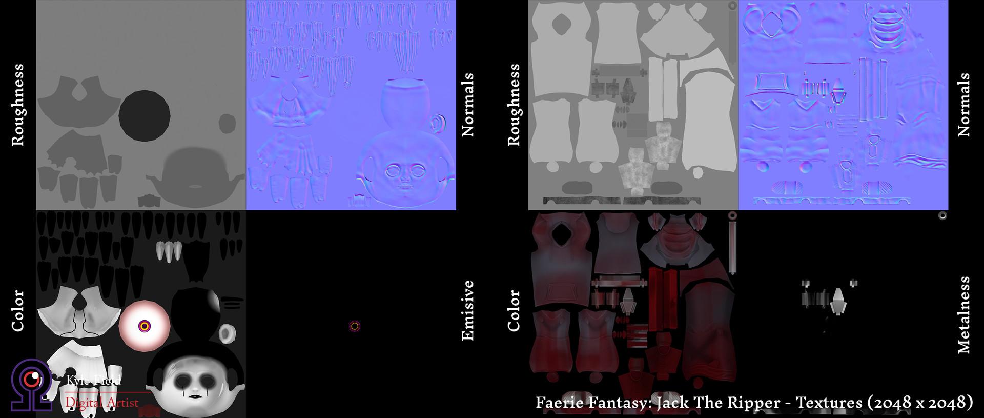 Kyle field jacktheripper rendersheet textures