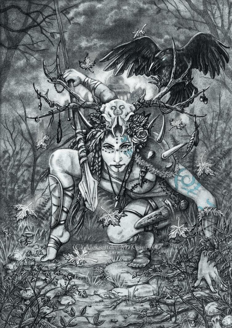 ArtStation - Grim Dawn: Shaman, Aleksandra MK