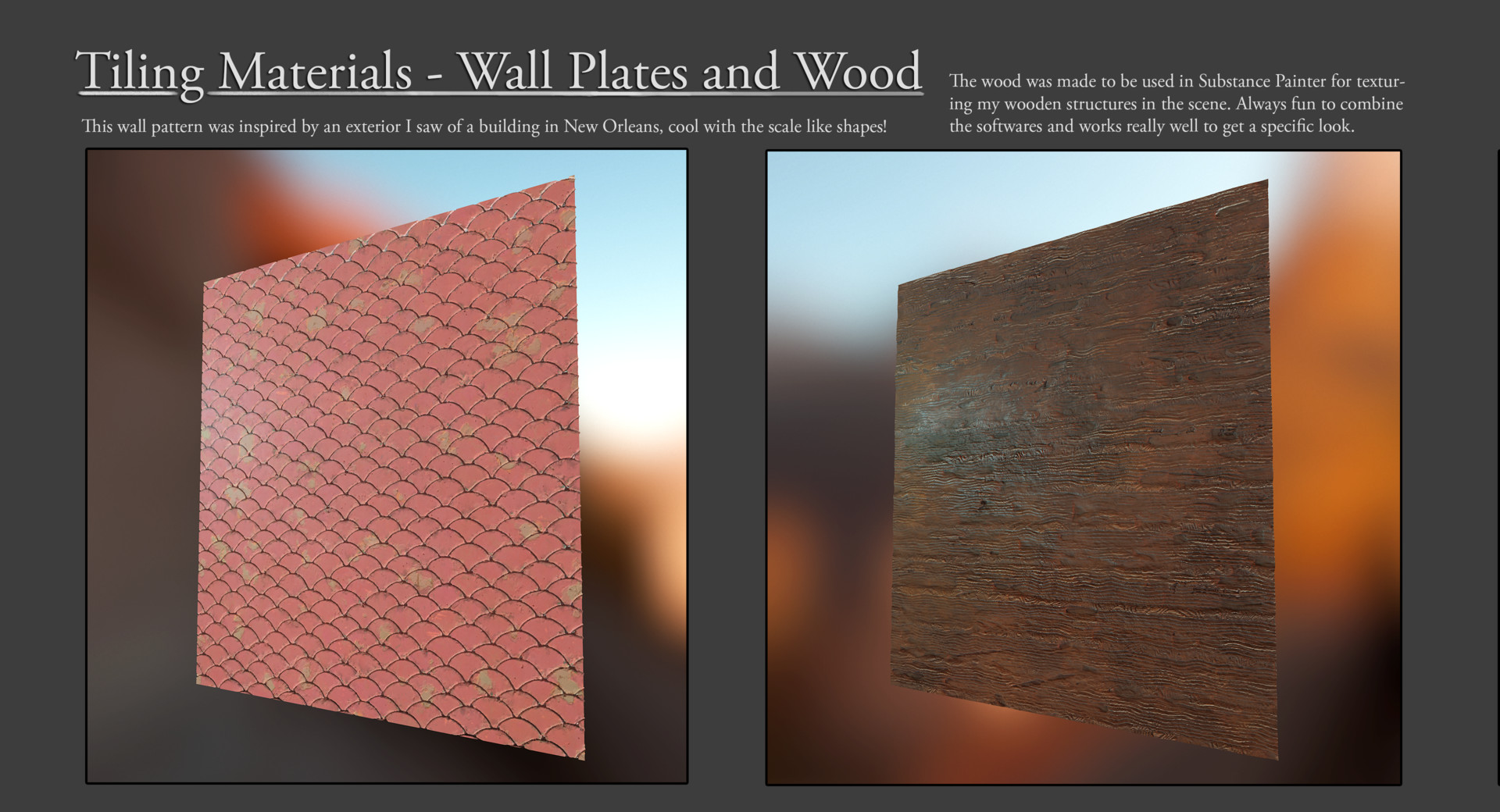 Olle norling tiling walls renders 3