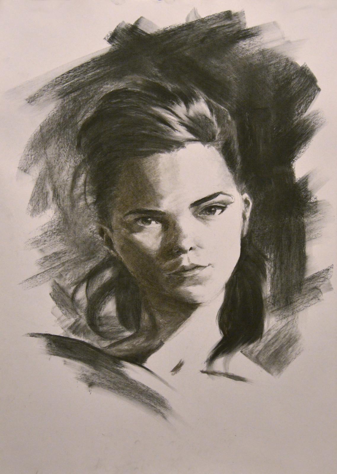 Charcoal Portrait I