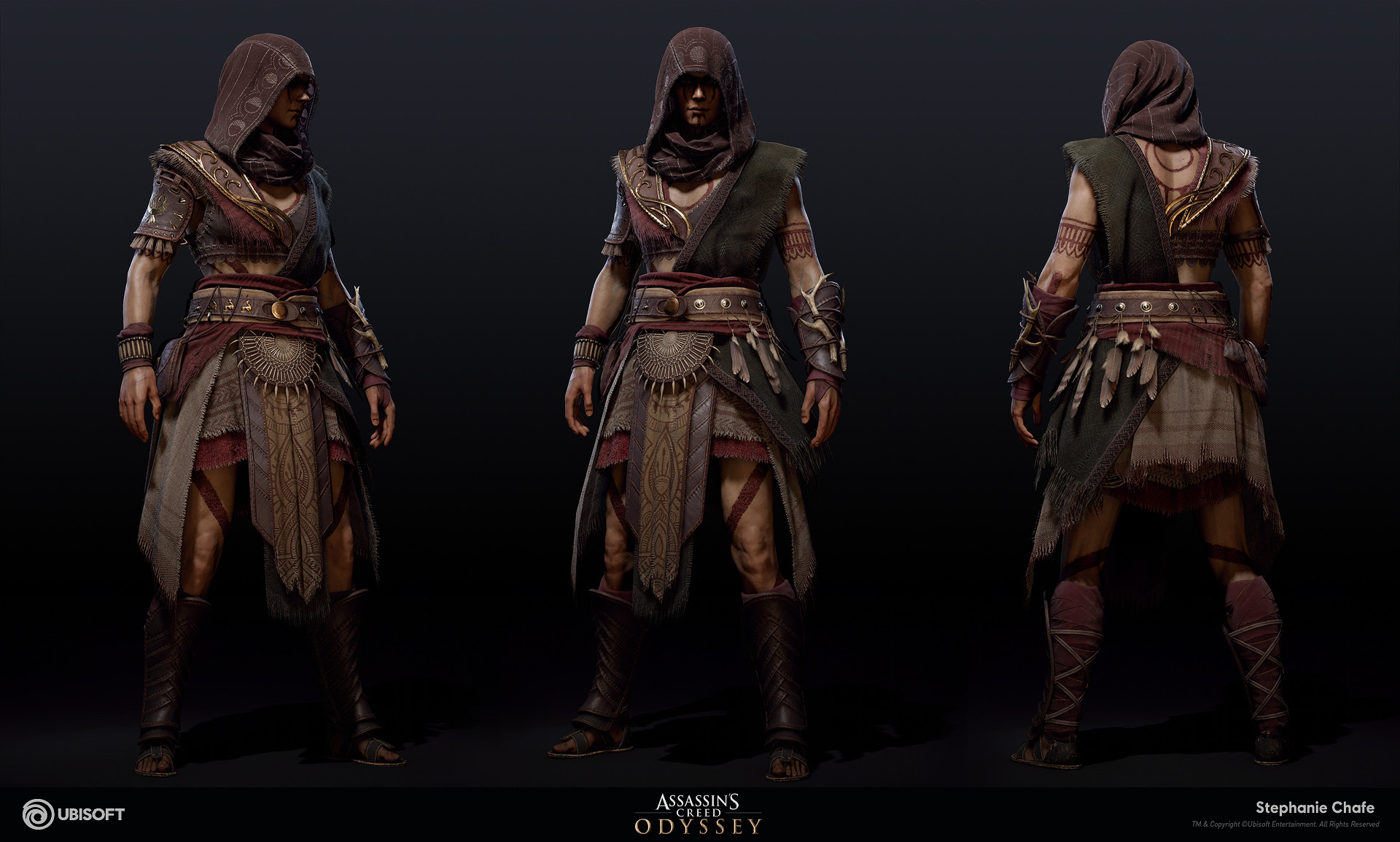 Artstation Hunter Suit Assassin S Creed Odyssey Stephanie Chafe