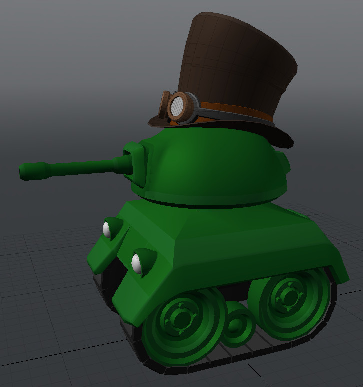 This was made as part of a decorative add-on pack for a cartoony tank combat game.