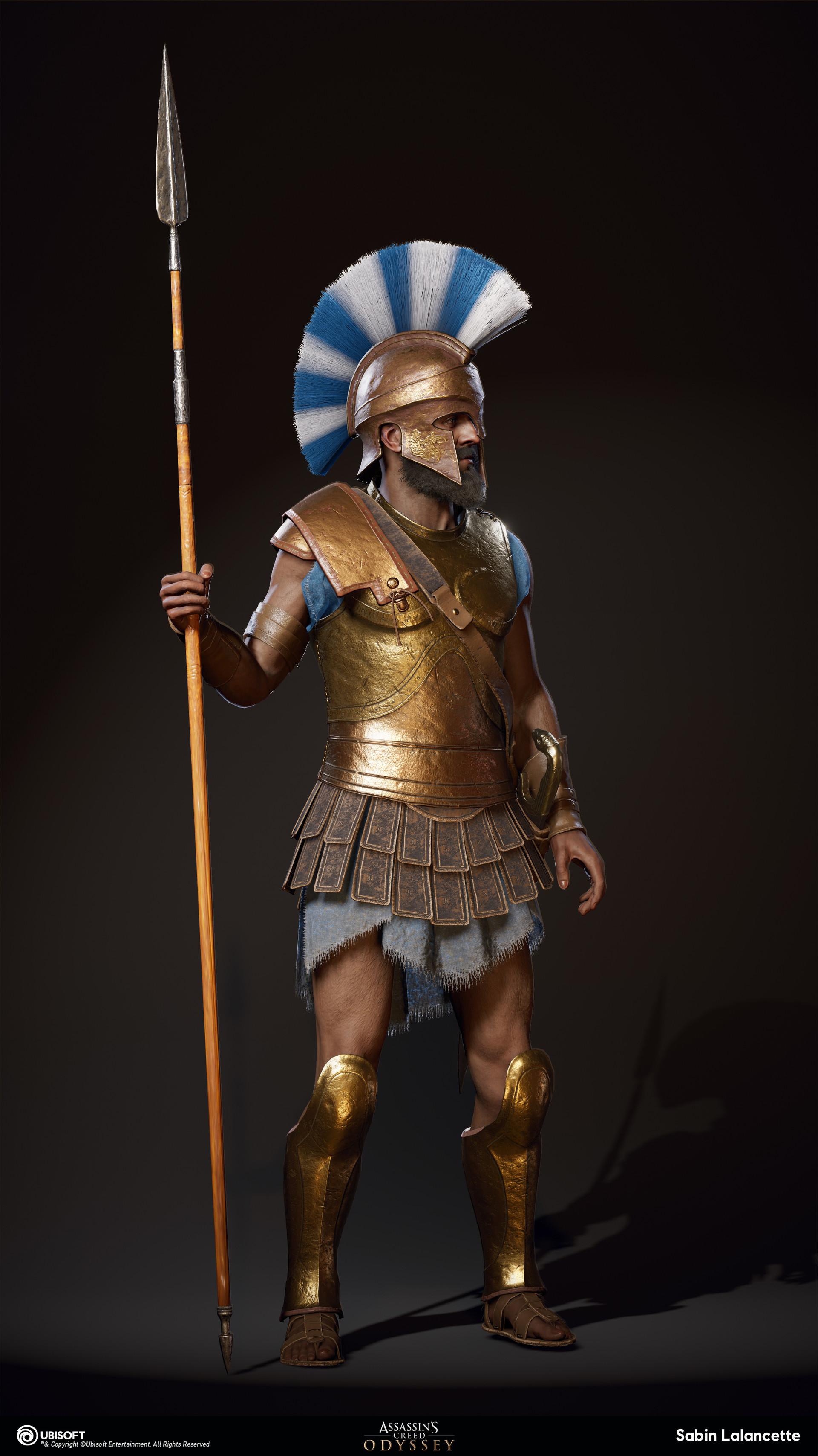 Sabin lalancette artblast fullsize athenian heavy soldiera front slalancette