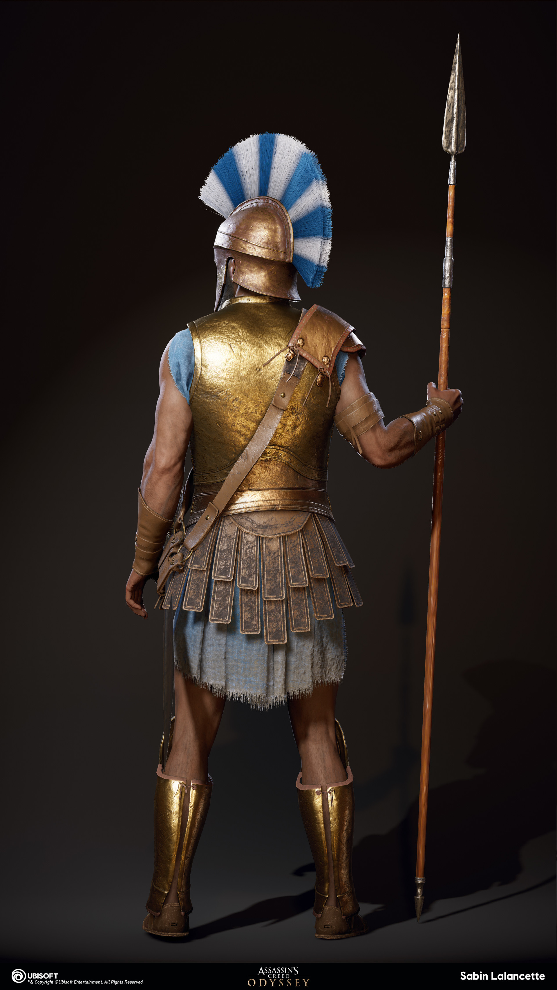 Sabin lalancette artblast fullsize athenian heavy soldiera back slalancette
