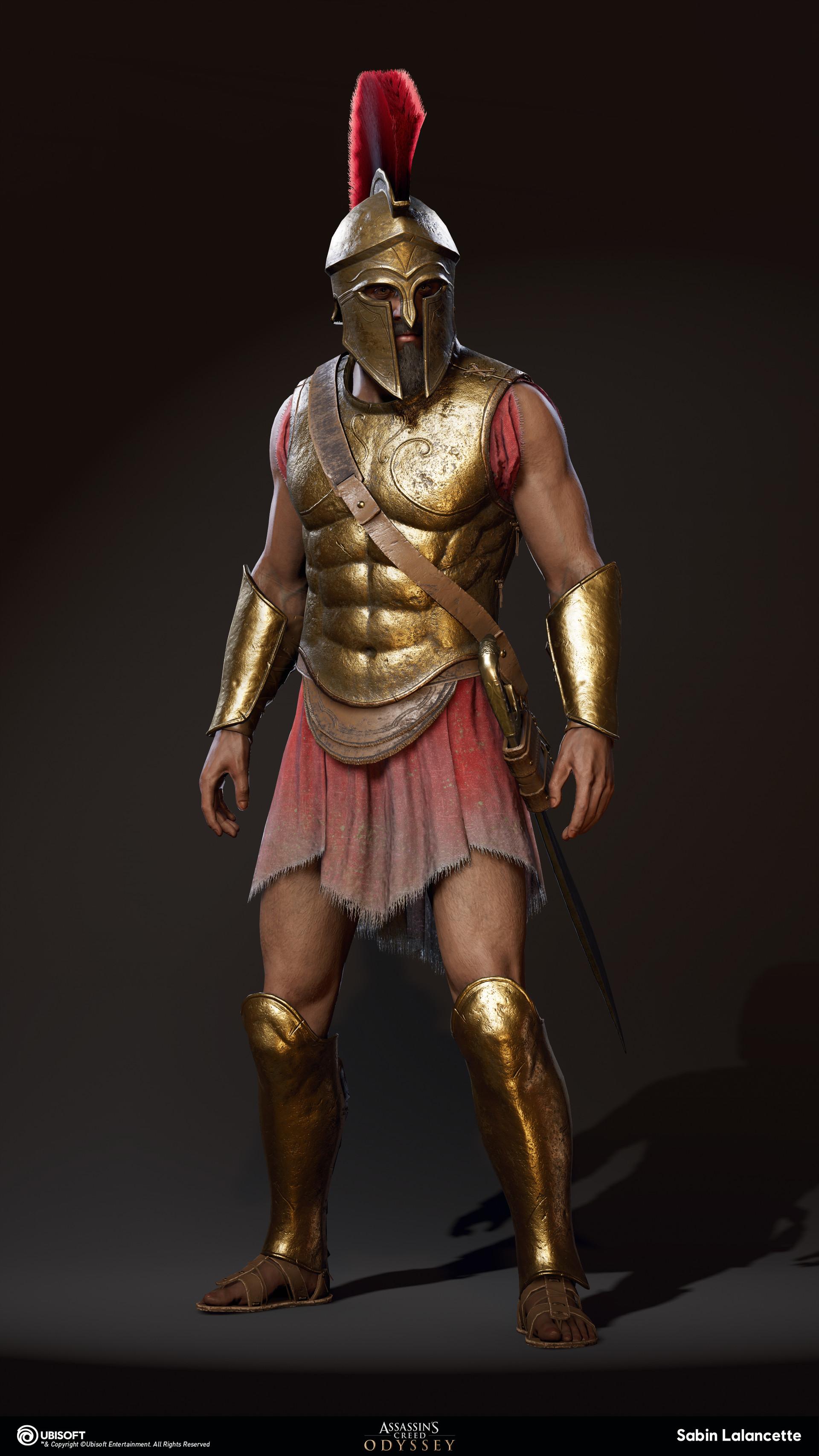 Sabin lalancette artblast fullsize spartan heavy soldier front slalancette