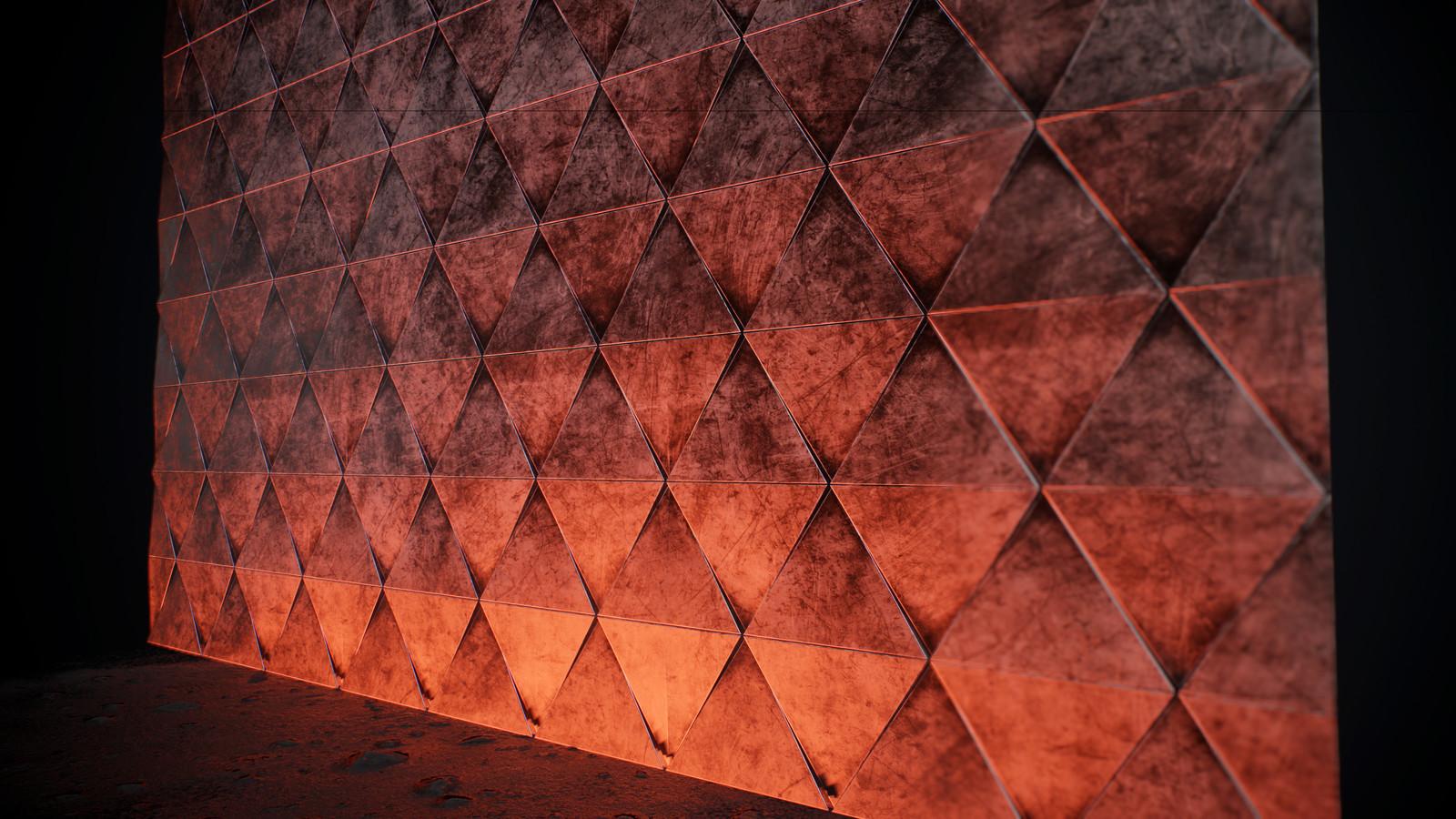 Wall tiled