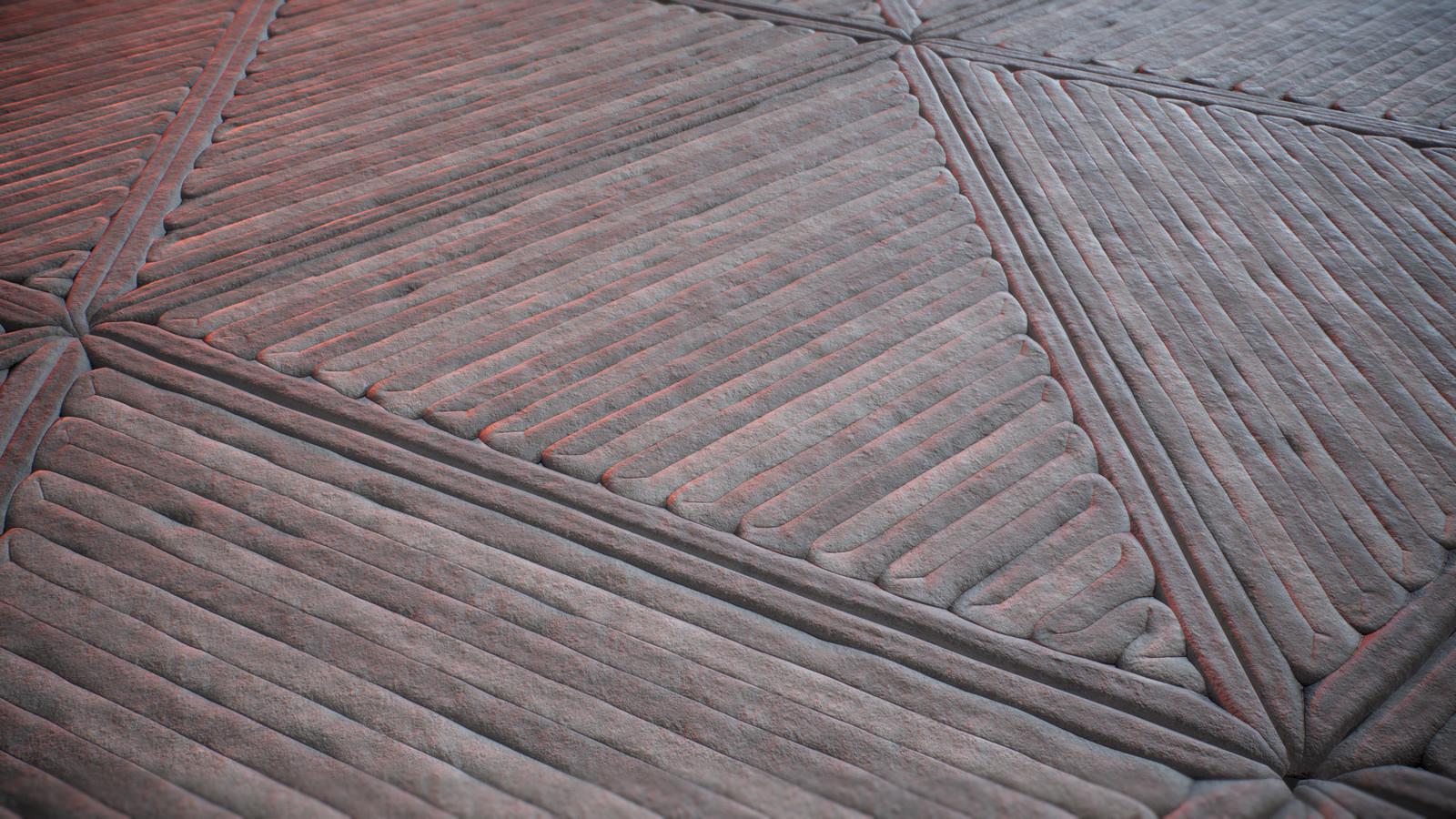 Triangular Floor tiled