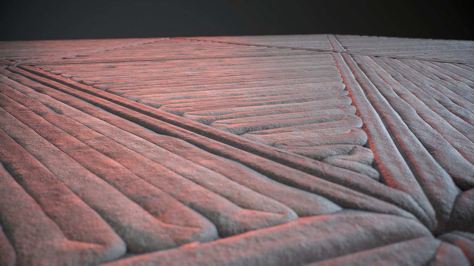 Triangular Floor Close up