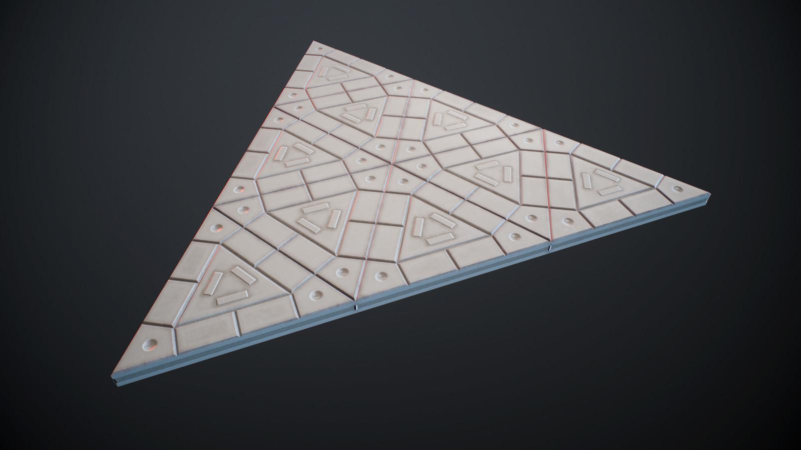 Triangular plastic ground