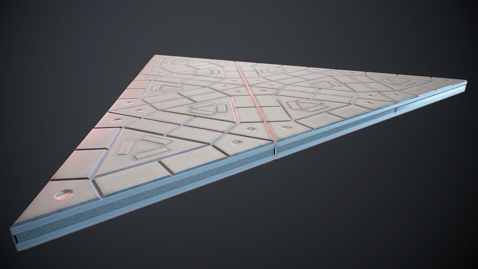 Triangular plastic ground wireframe