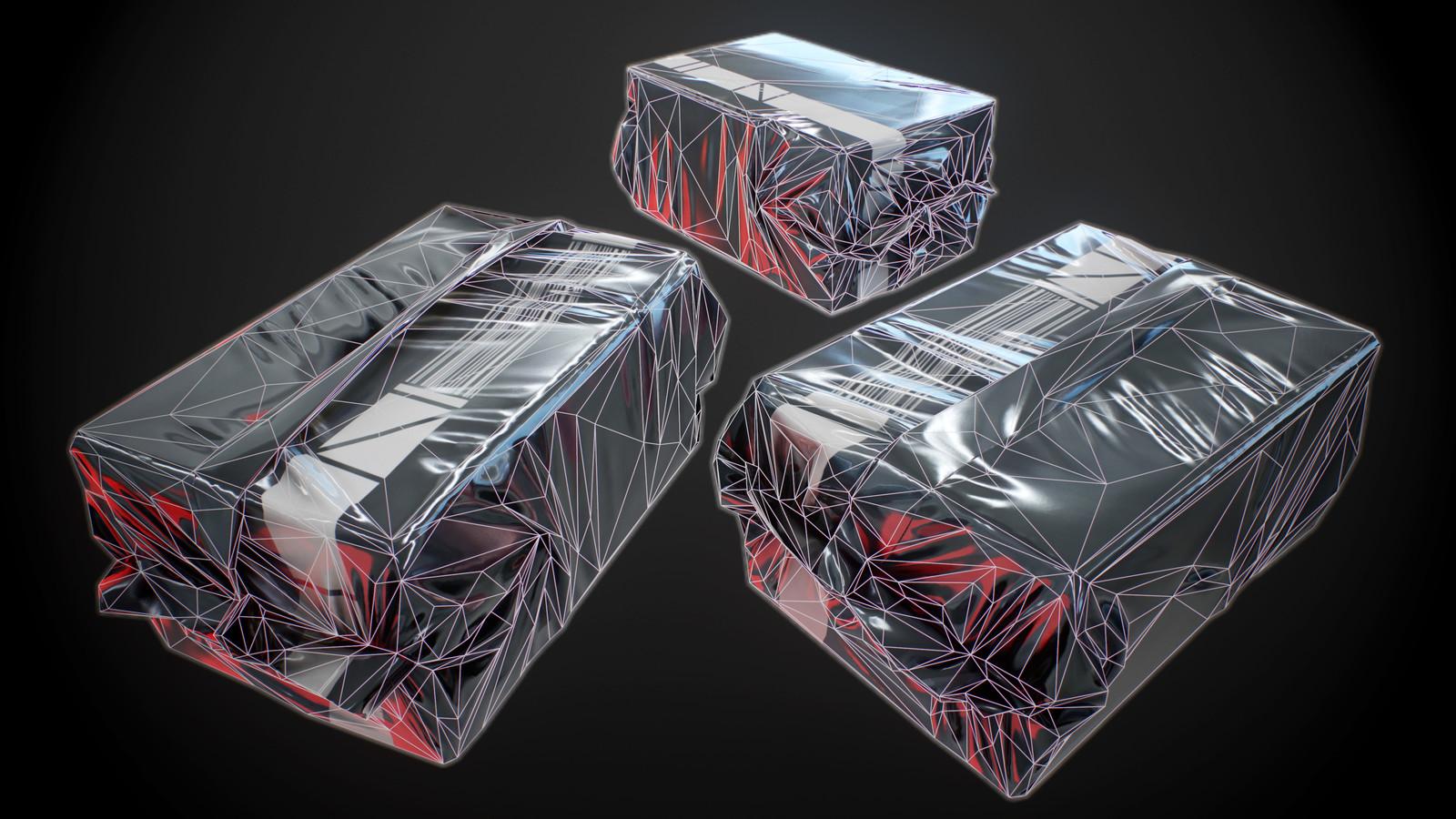 Loot item wireframe