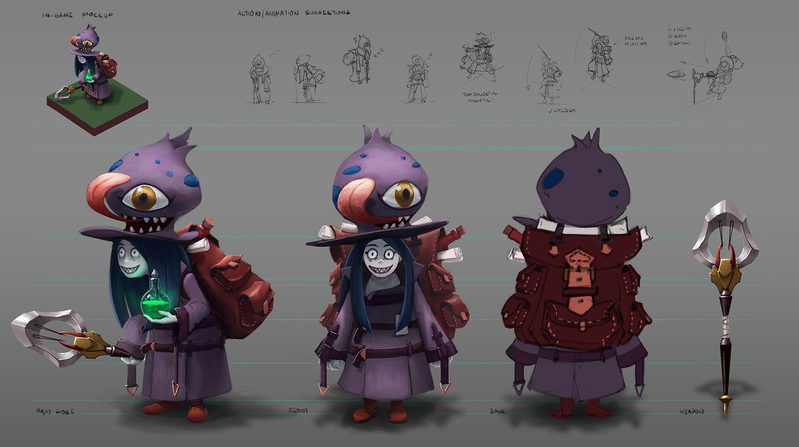 Art Test - Mobile MOBA Character