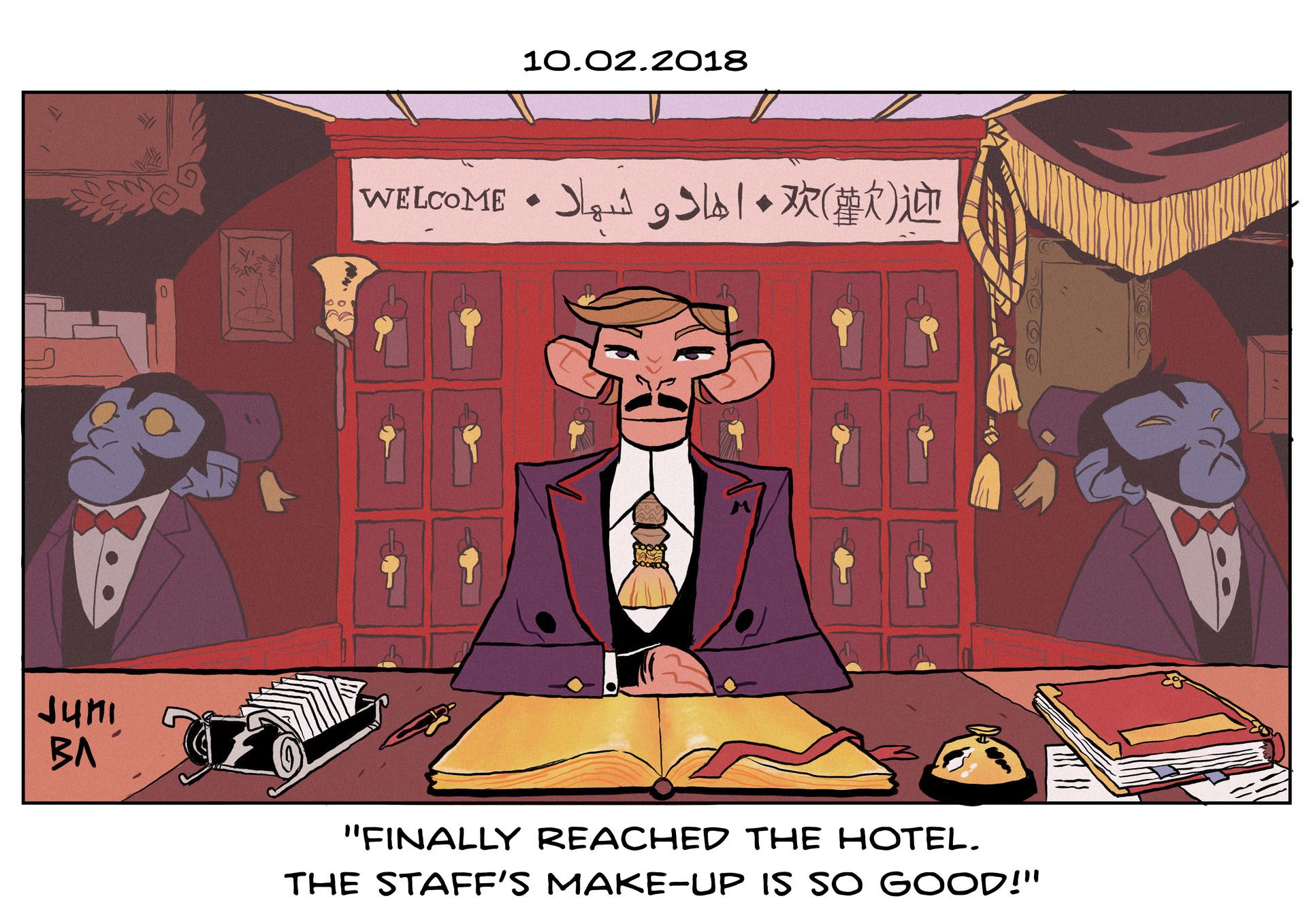 Juni ba 2 hotel lobby