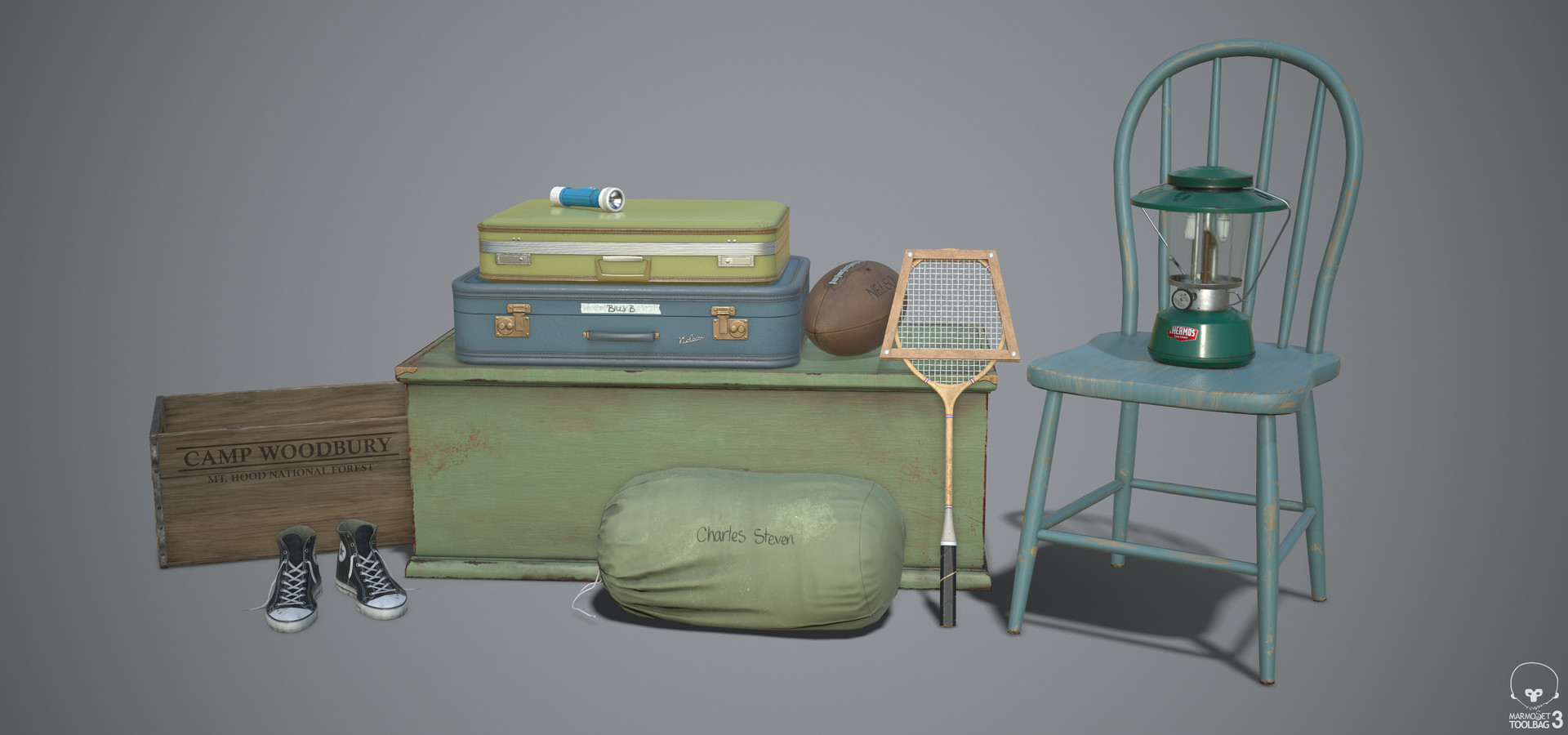 Collection of Assets Rendered in Marmoset Toolbag