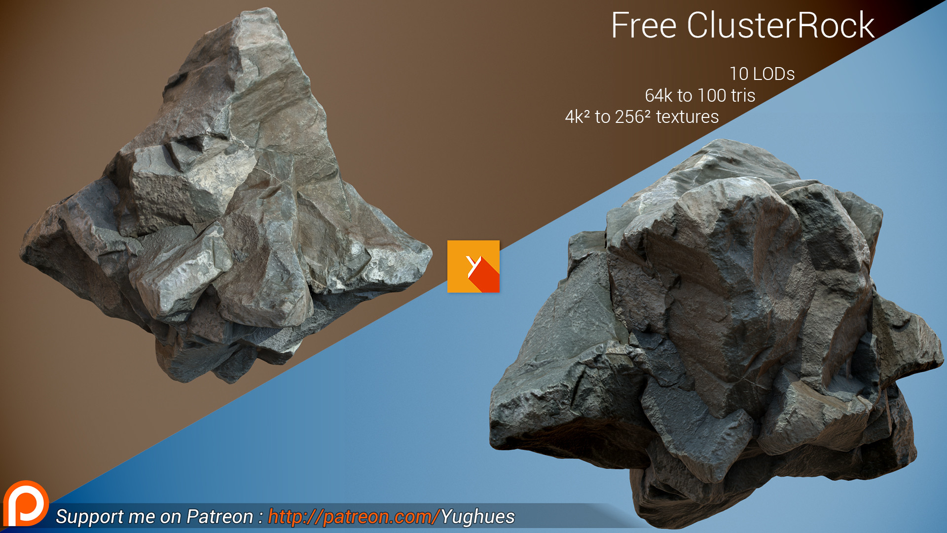 Hugues muller free photogrammetric rock cluster by nobiax db8g2zq