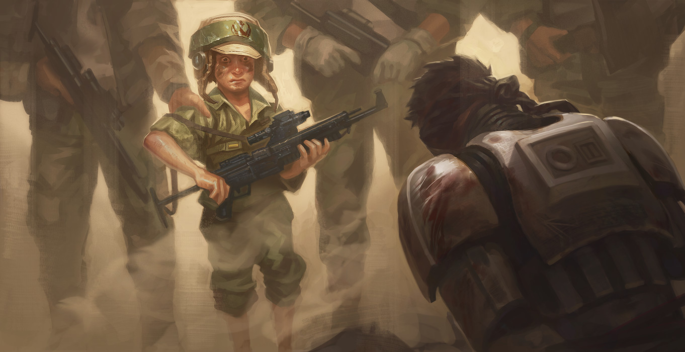 Rebel scum are now forcing kids to kill our wounded brothers.