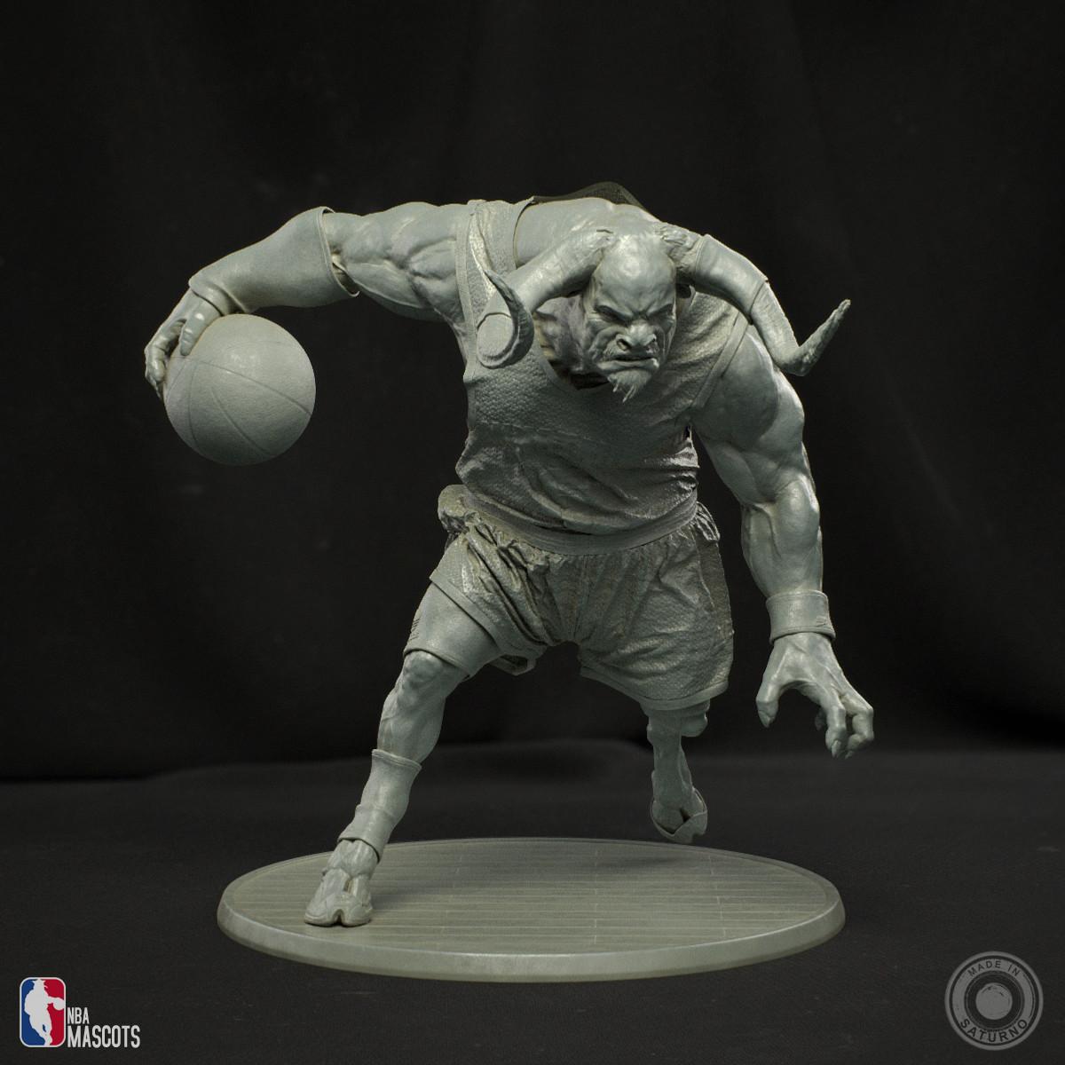 Abner marin minotaur clay 01