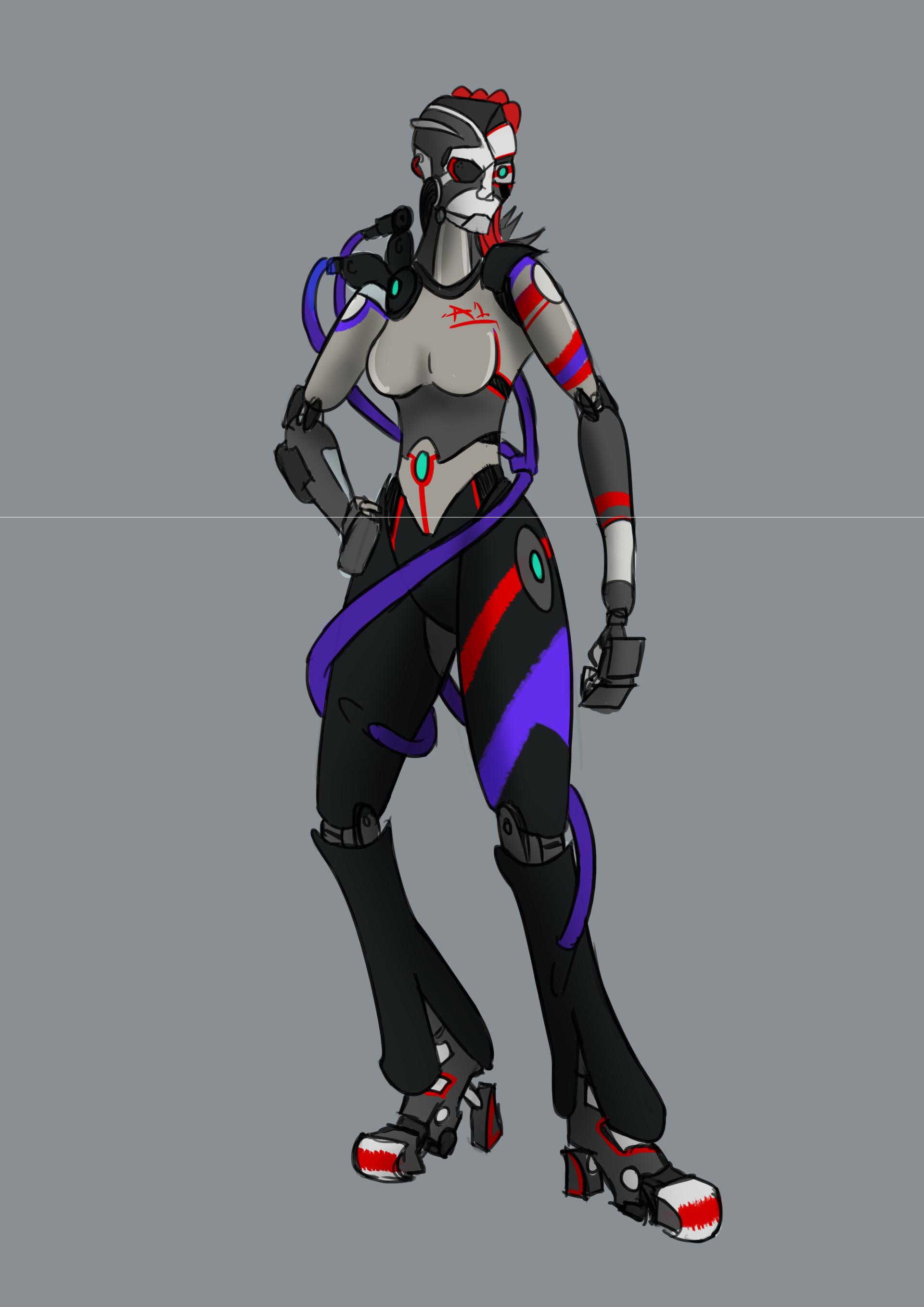 Morris Beck - Cyberpunk Android Design Concept