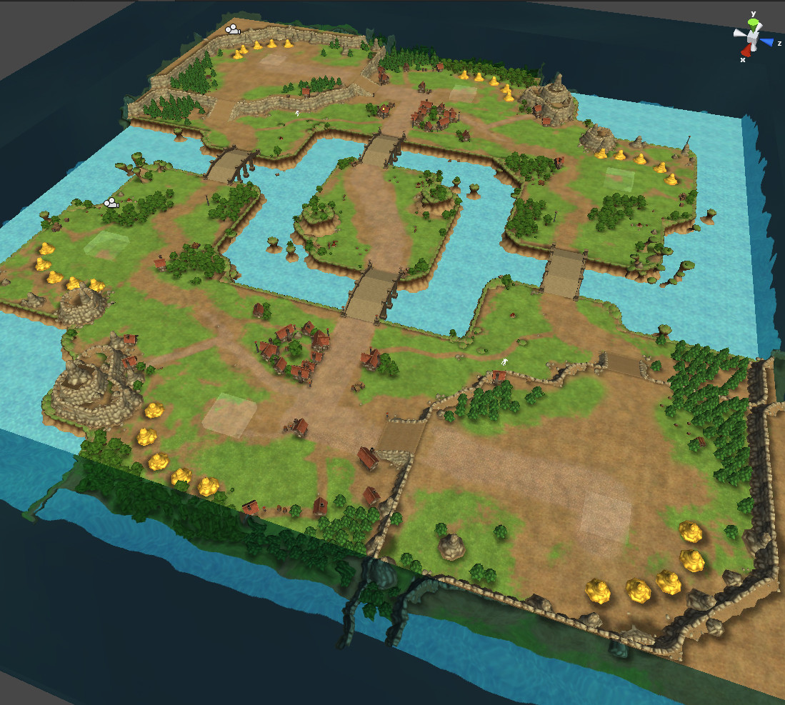 Test map with the modular grid based landscape pieces