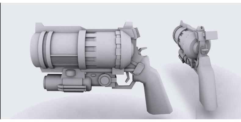 Gun for giant bullets