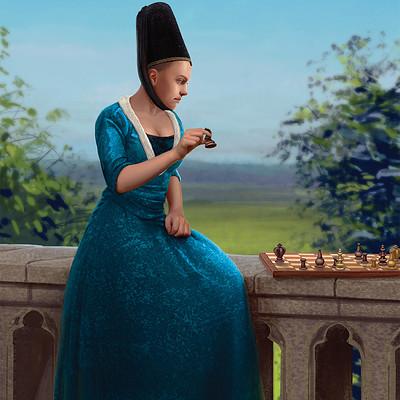 Tymoteusz chliszcz dama grajaca w szachy poprawiona 2 web