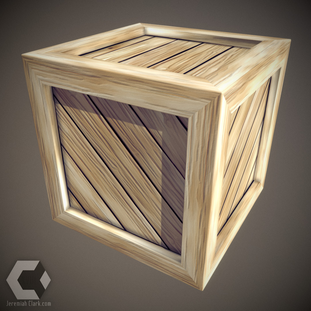 Simple Crate - Cartoonified