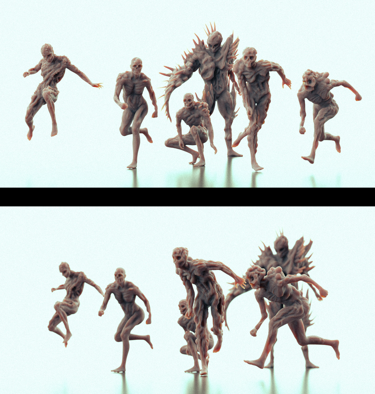 Rough zombie sculpts