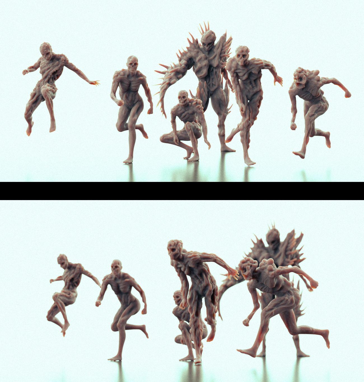 Rough zombie sculpts