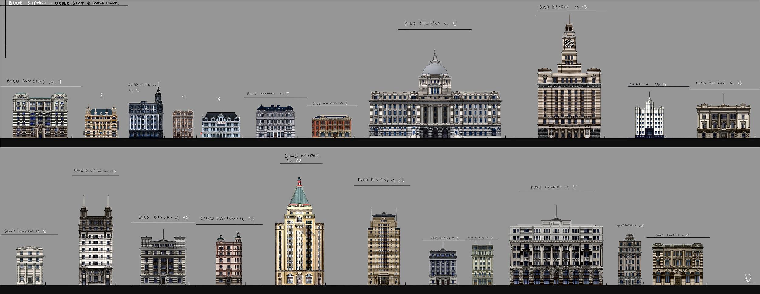 building order and facades