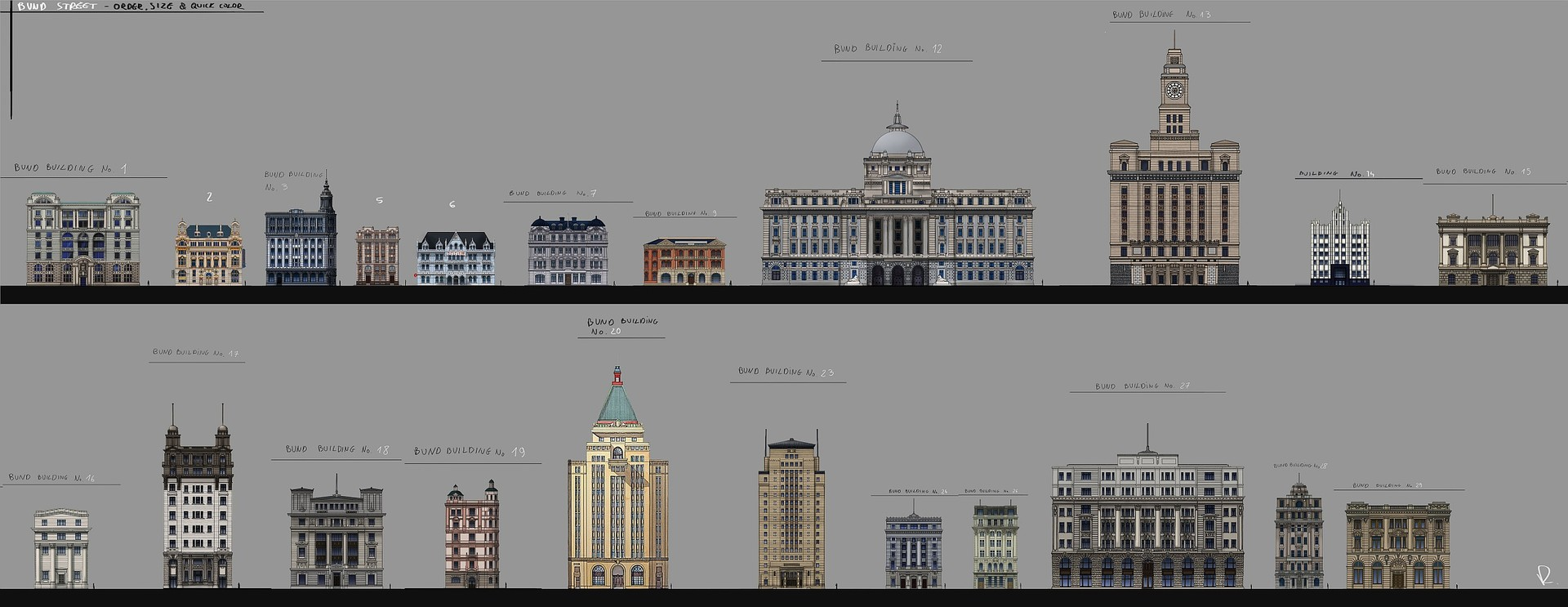 building order and facades