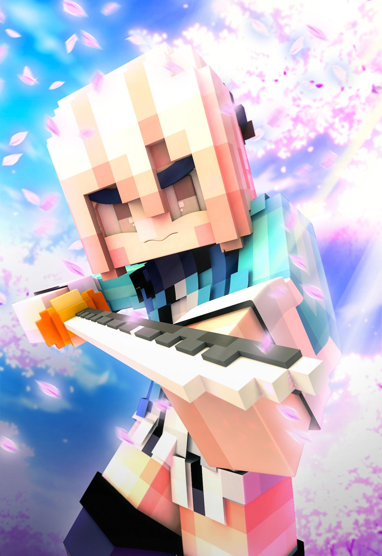 Supawit Oat Minecraft Wallpaper Souji Okita Sakura Saber