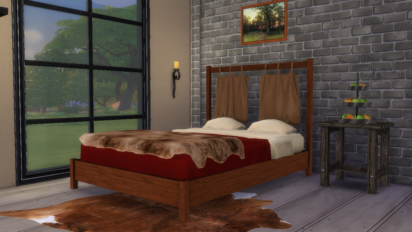 The Sims 4. Bed area