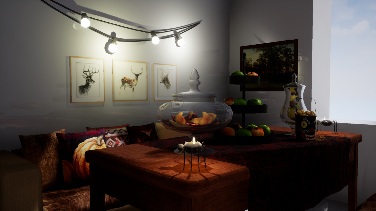 Unreal Engine 4. Dining area