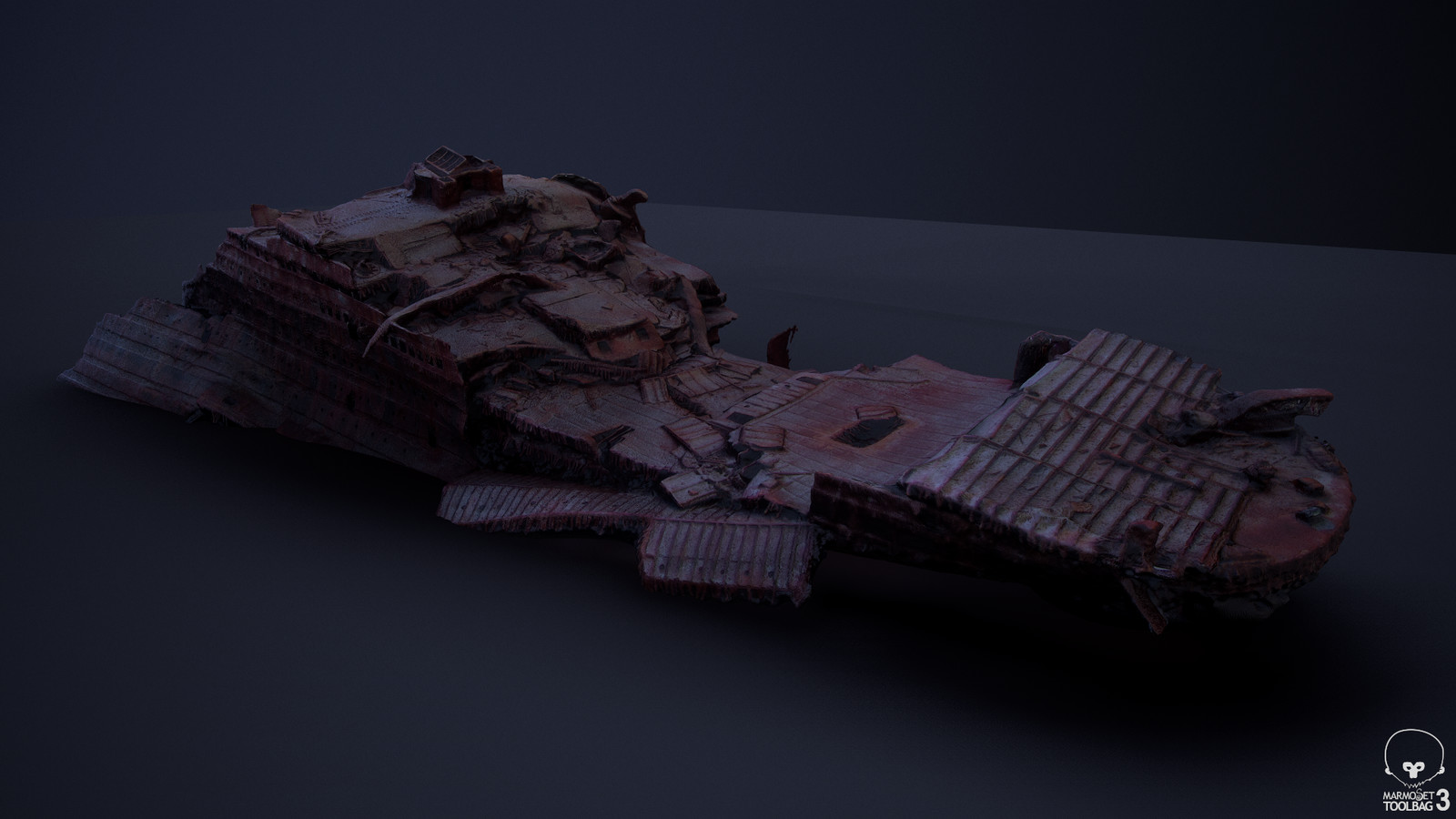 Agisoft Photoscan output geometry, viewed in Marmoset Toolbag 3 (04)