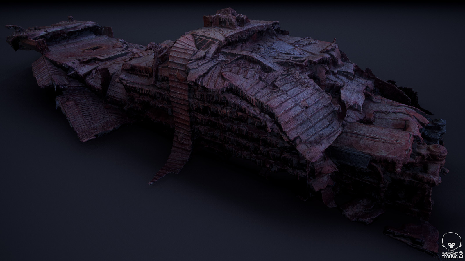 Agisoft Photoscan output geometry, viewed in Marmoset Toolbag 3 (03)