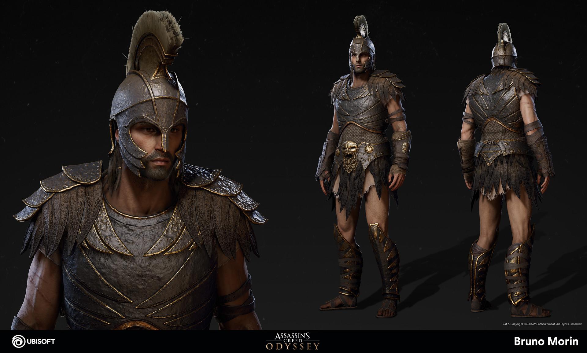 Artstation Assassin S Creed Odyssey Kronos Armor Bruno Morin