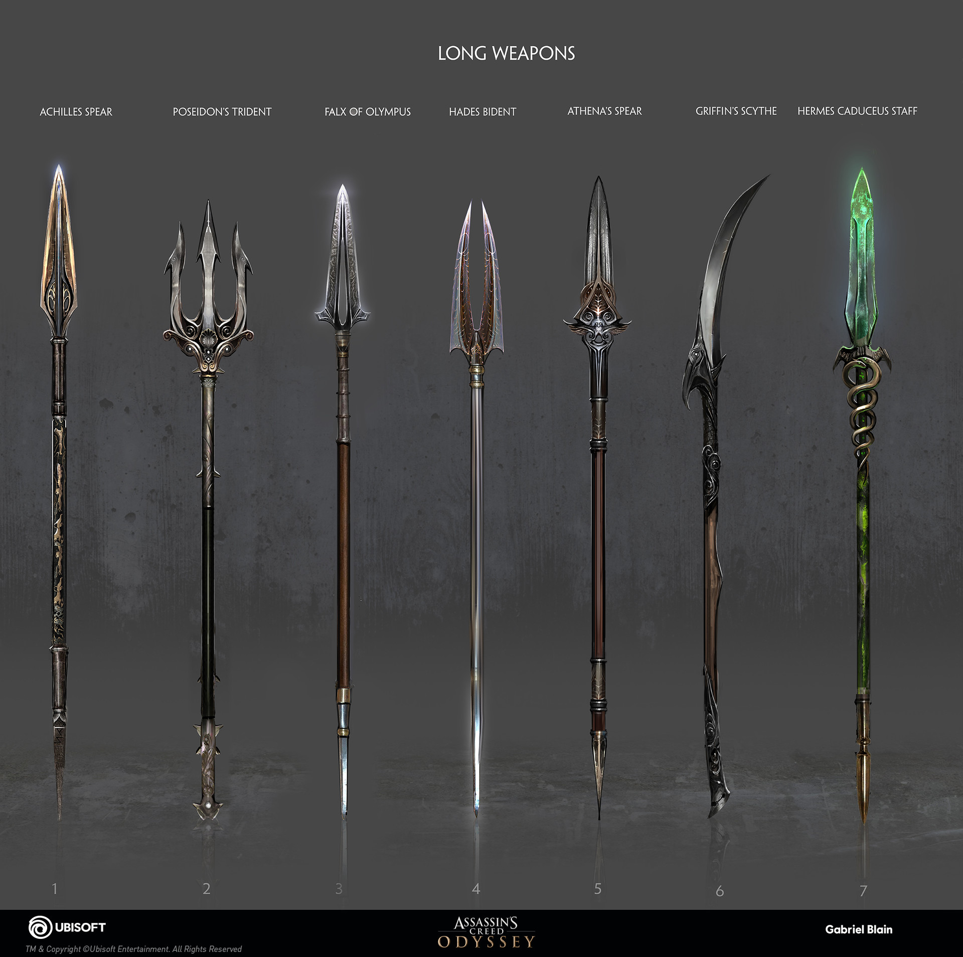 Artstation Assassin S Creed Odyssey Weapon Concept Gabriel Blain
