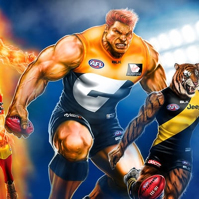 "BLK Sports ""You Be The Hero"" AFL Mascots"