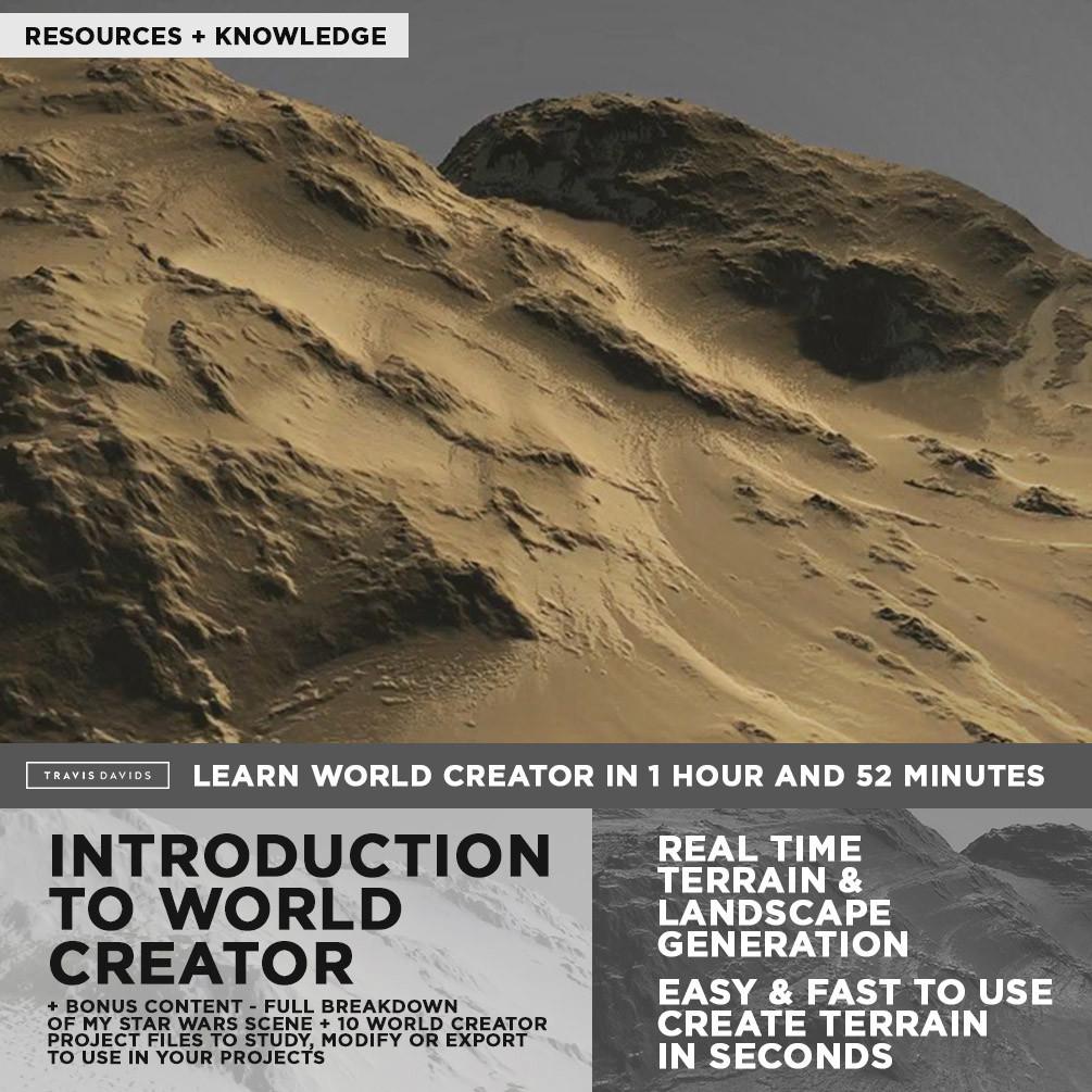 ArtStation - Introduction To World Creator + BONUS CONTENT