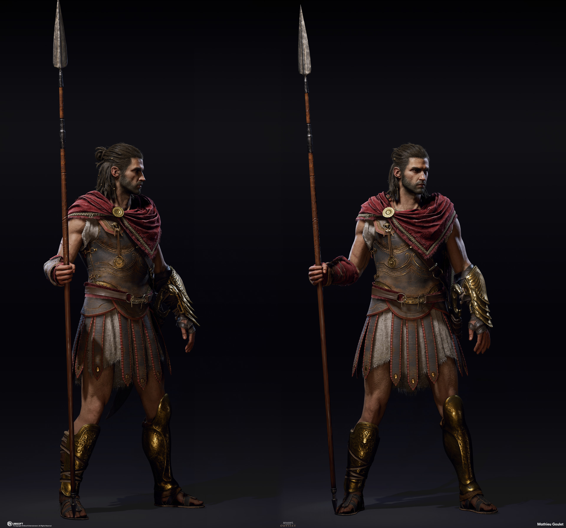 Artstation Assassin S Creed Odyssey Iconic Outfit Mathieu Goulet