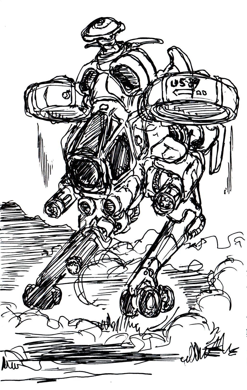 Vincent bryant inktober 12 sketch