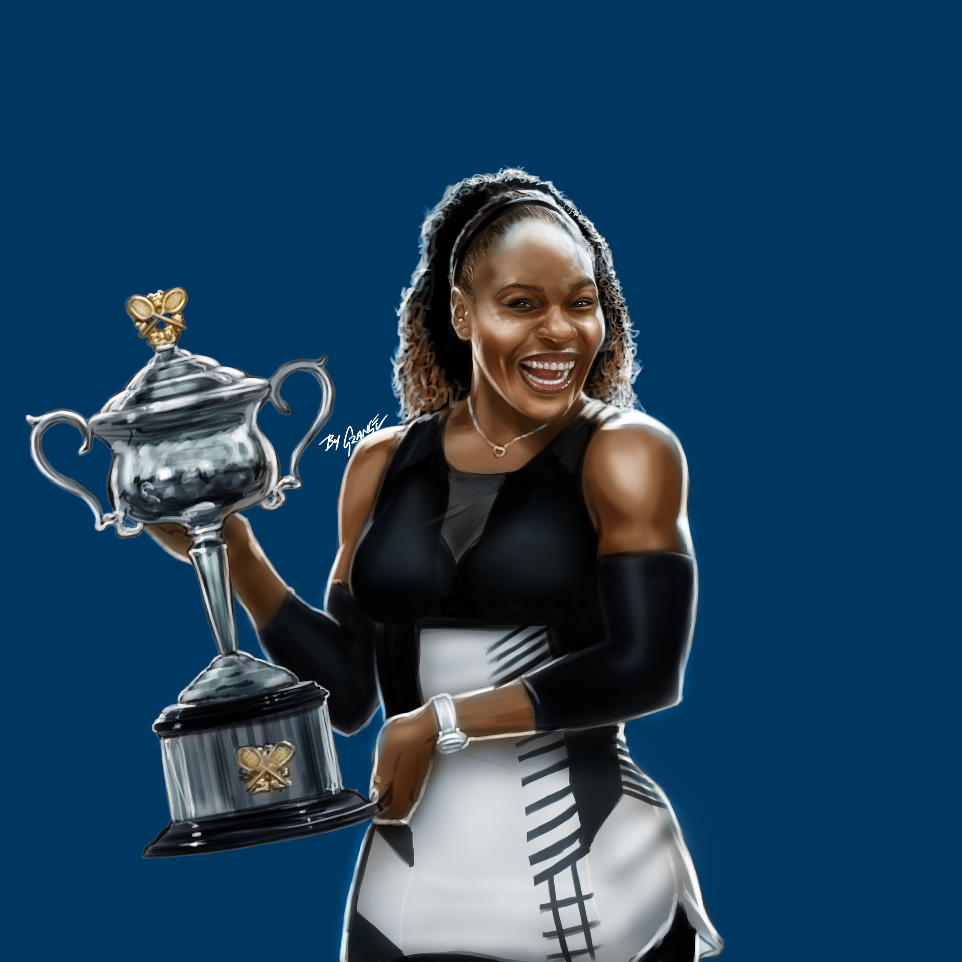 Grange wallis serena williams winner