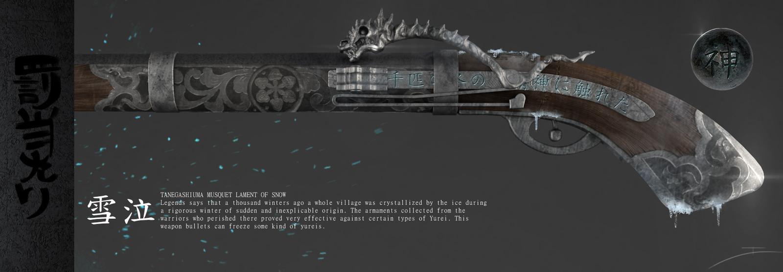 An Exemple of Magic Tanegashima (Musquet Rifle)
