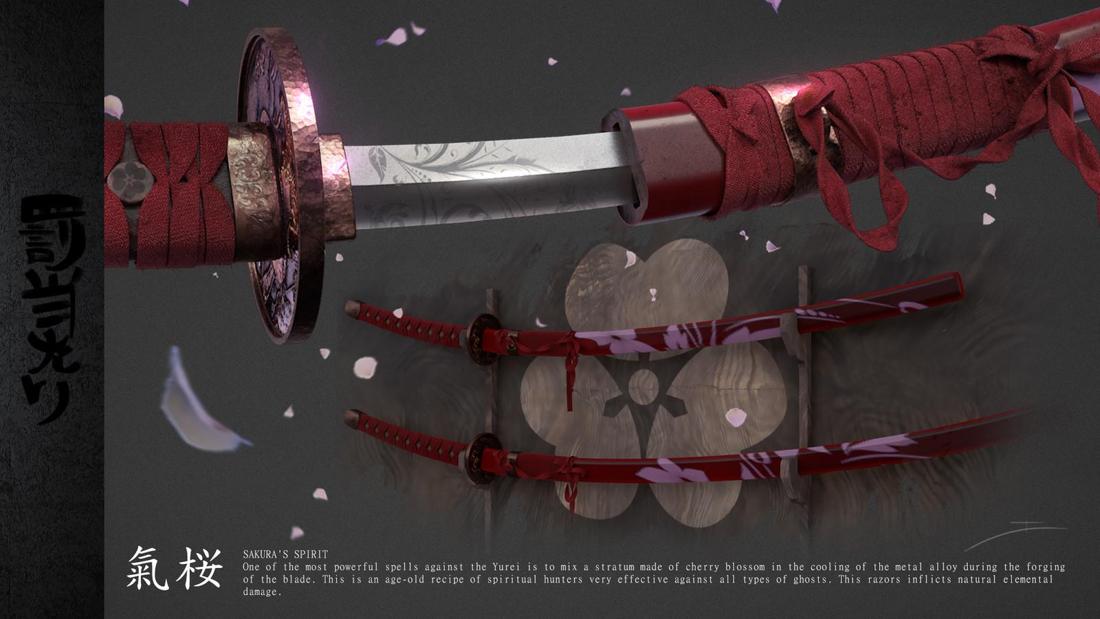 Set of magic swords (Sakura's Spirit)